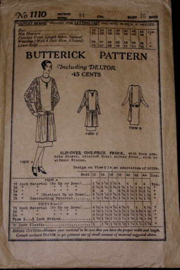 Butterick 1110