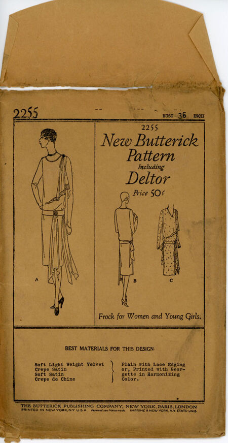 Butterick 2255 A Misses' Frock