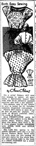 Anne Adams 4517 1948 Newspaper Clipping