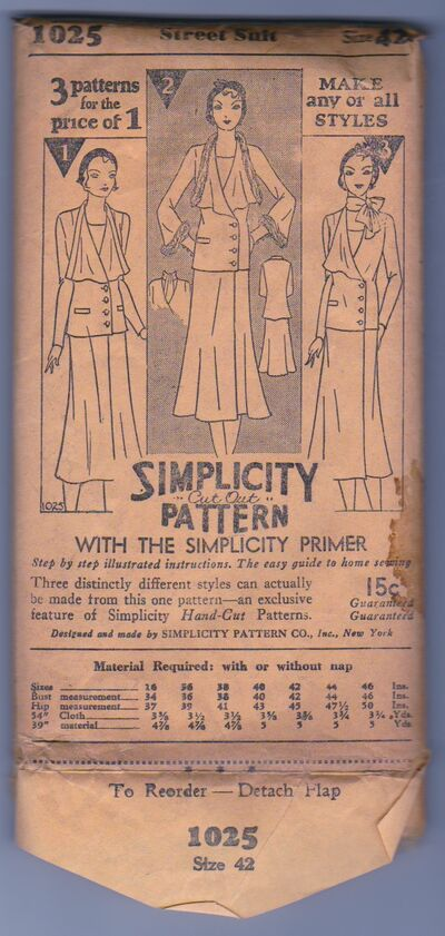 Simplicity 1025 Vintage Sewing Pattern 1930s 1.jpeg