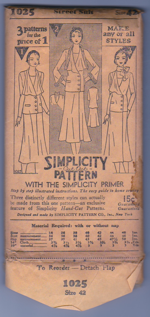 Simplicity 1025 B