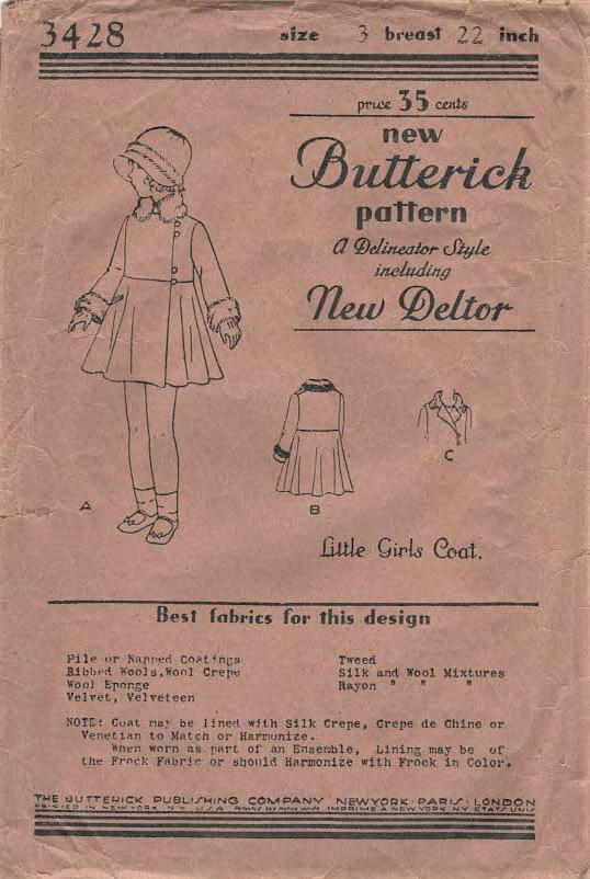 Butterick 3428 A