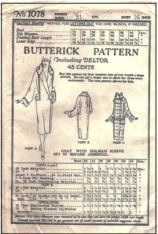 Butterick 1078 A