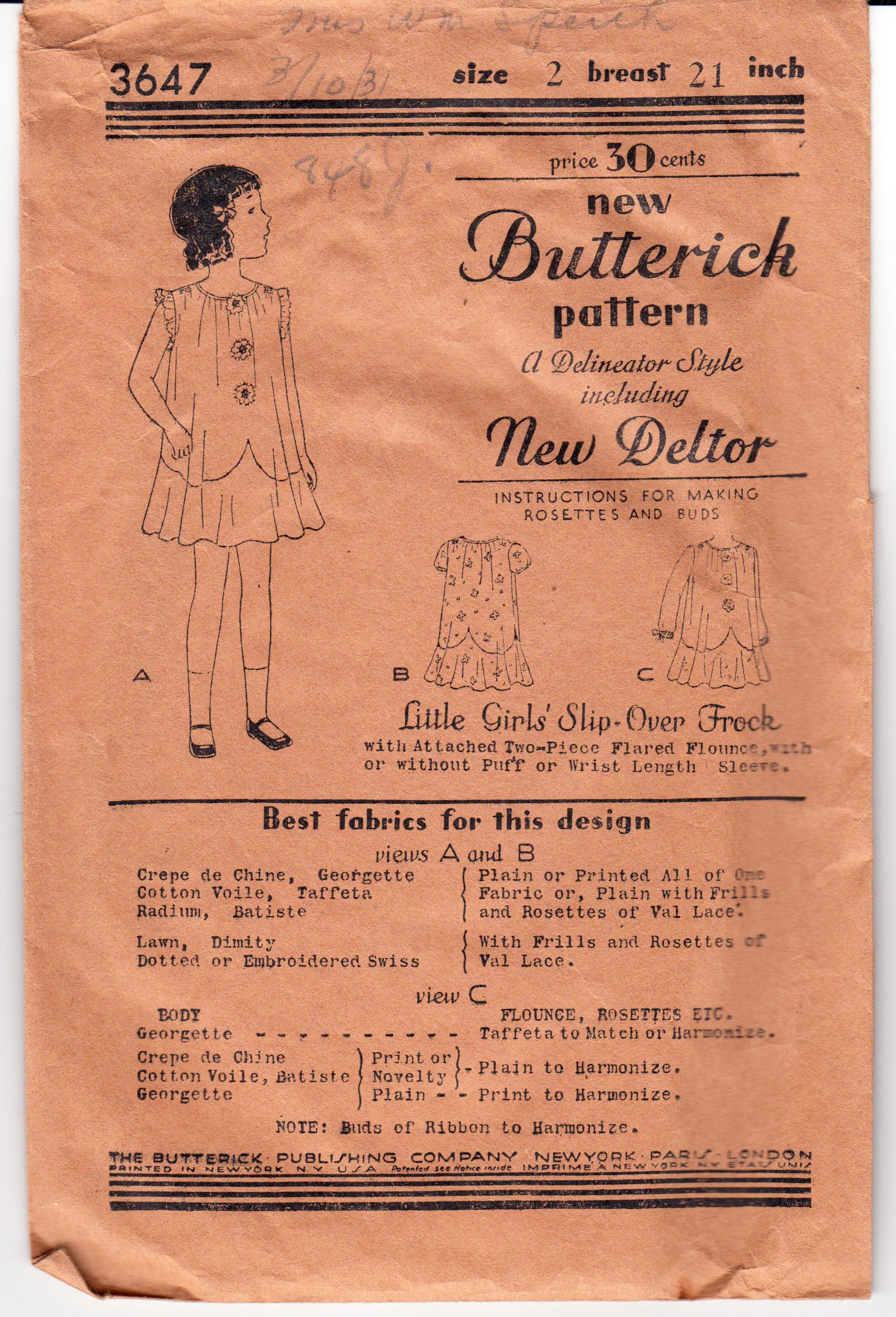 Butterick 3647 C