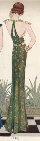 1932 McCall Evening Gown