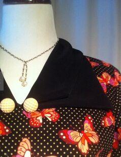 Butterick 5764 1930s day dress2 collar