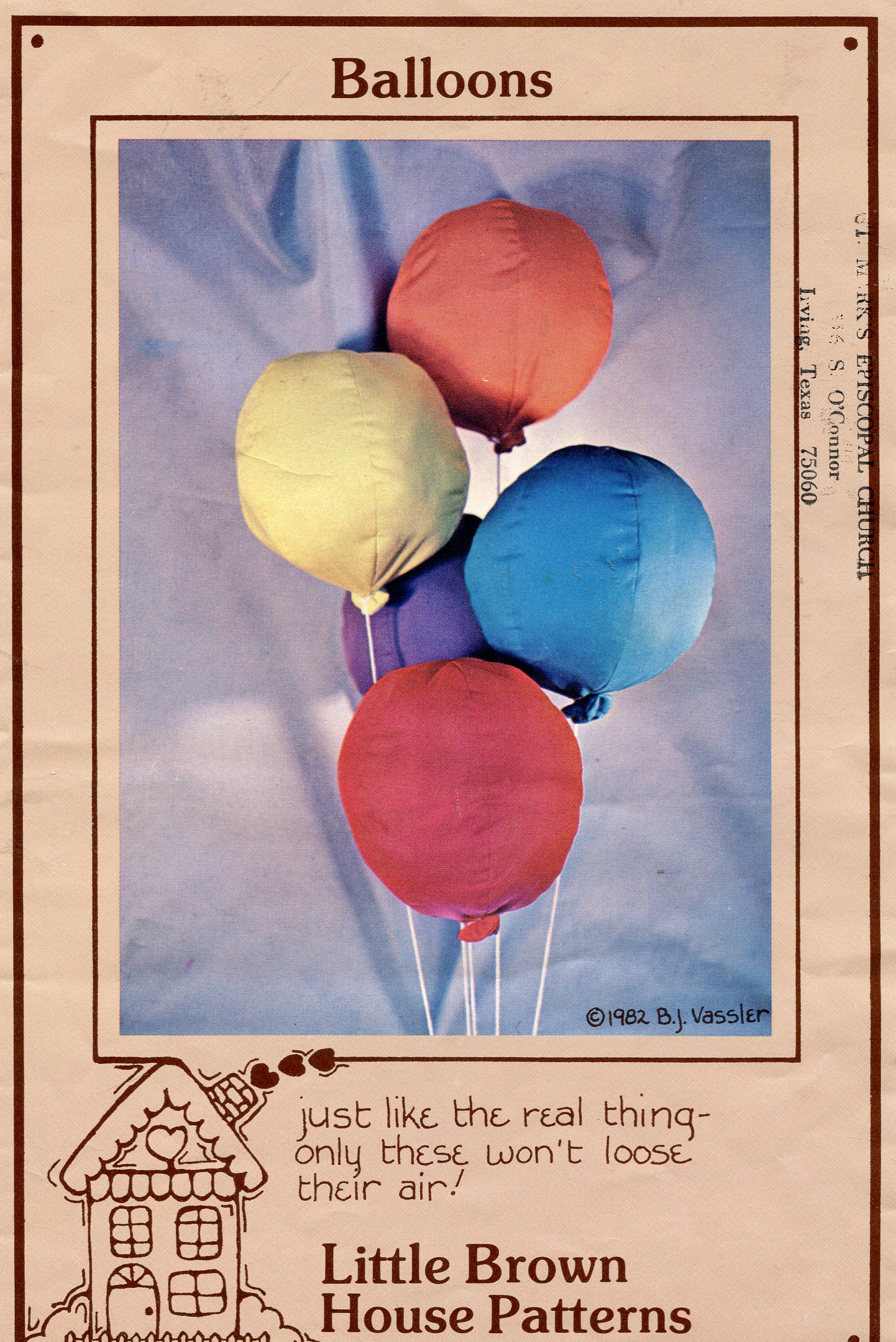 Little Brown House Balloons
