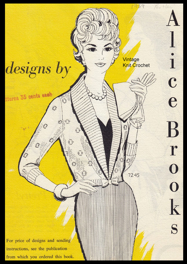 Designs by Alice Brooks Catalog 1959