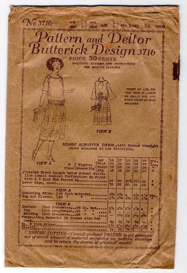 Butterick 3716 A