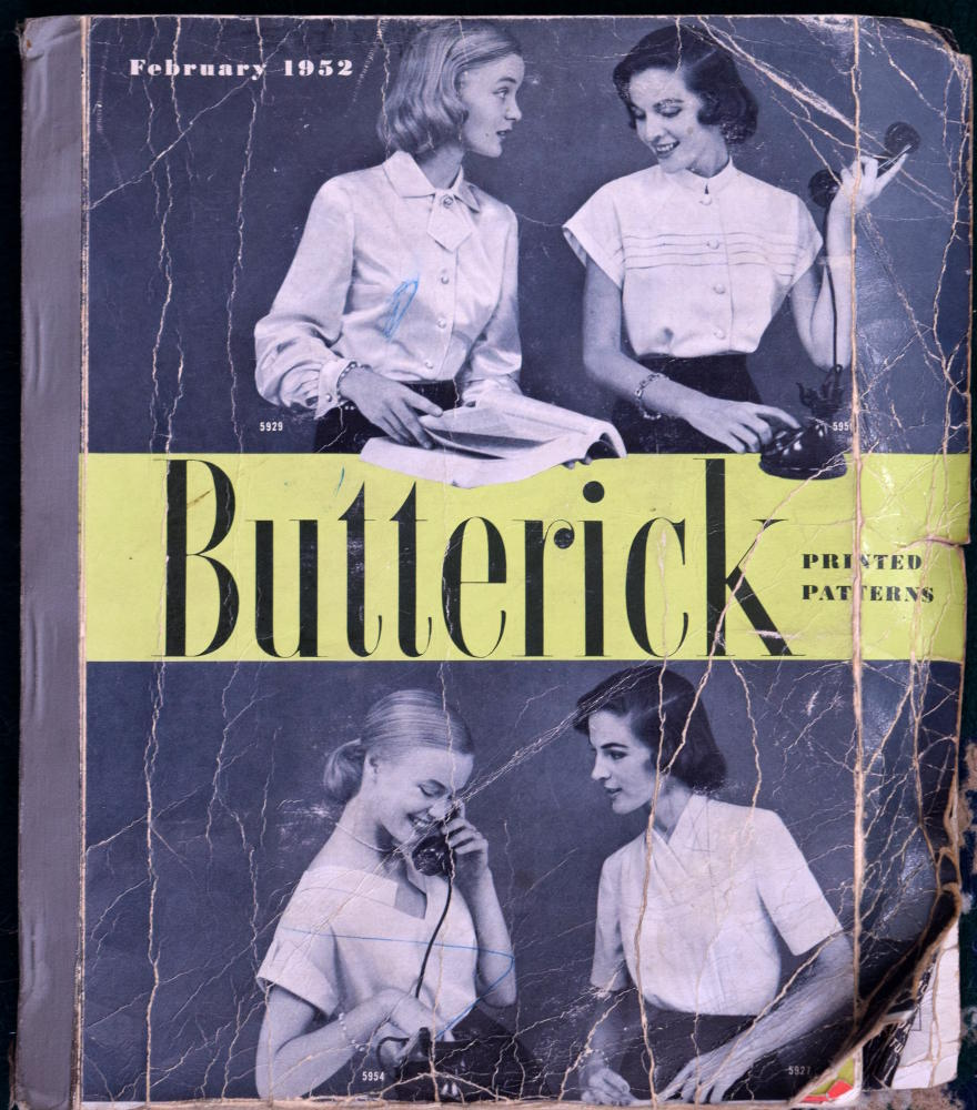 Butterick Printed Patterns February 1952