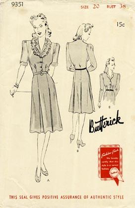 Butterick 9351 A