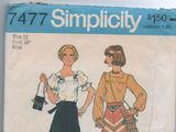 Simplicity 7477 A