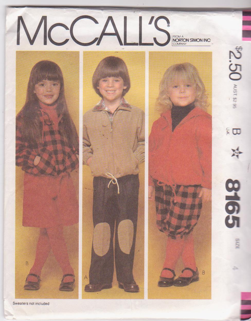 McCall's 8165 A