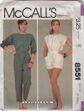 McCall's 8551 A