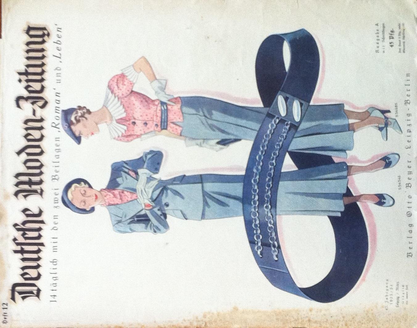 Deutsche Moden-Zeitung No. 12 Vol. 43 1933/34