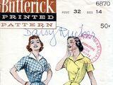 Butterick 6870 A