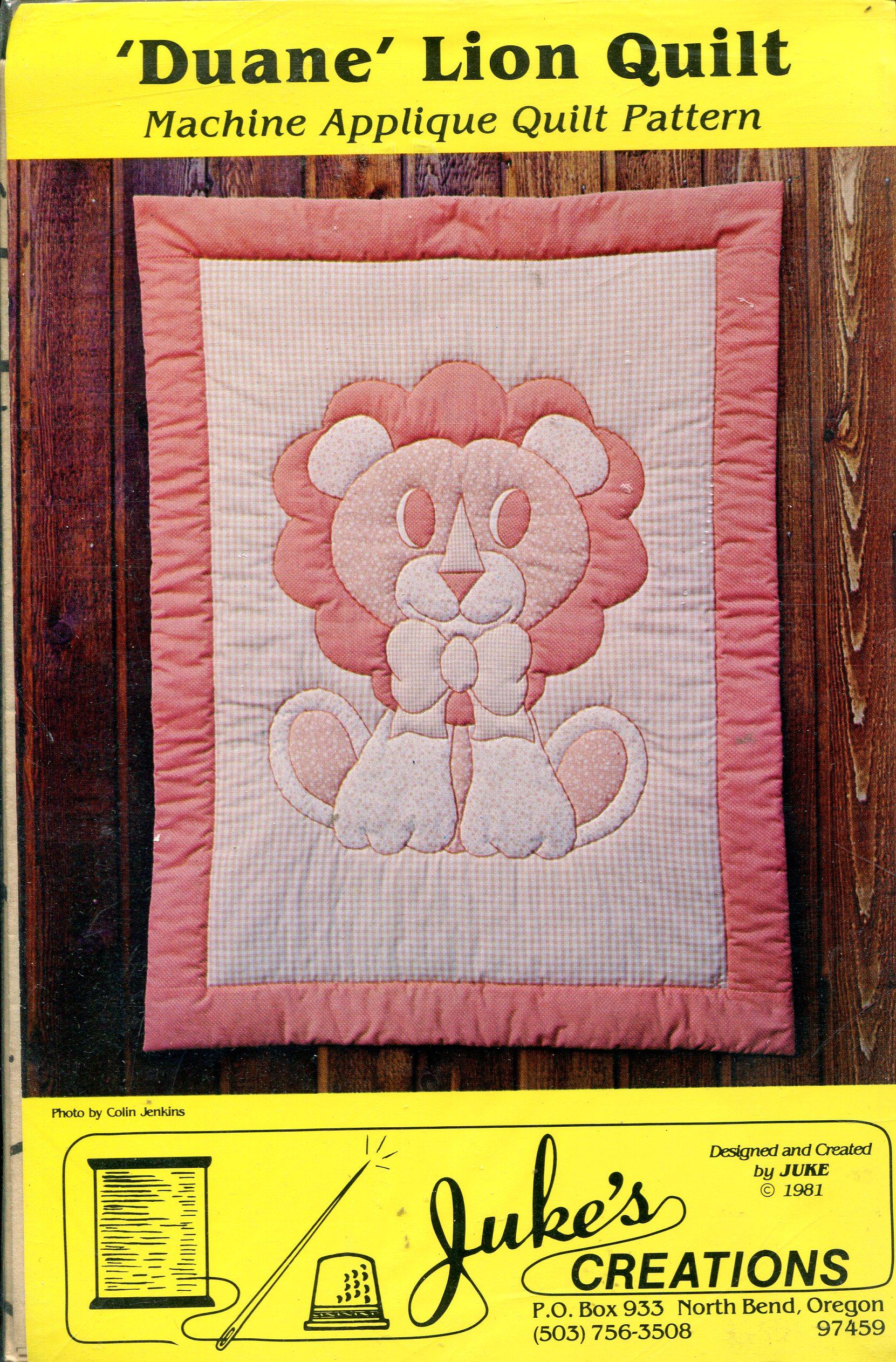 Juke's Creations Duane Lion Quilt