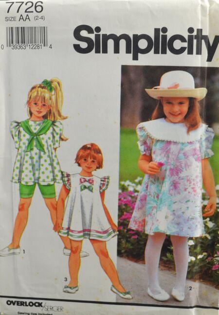 Simplicity Girl's Shorts Dress Top 1.jpg
