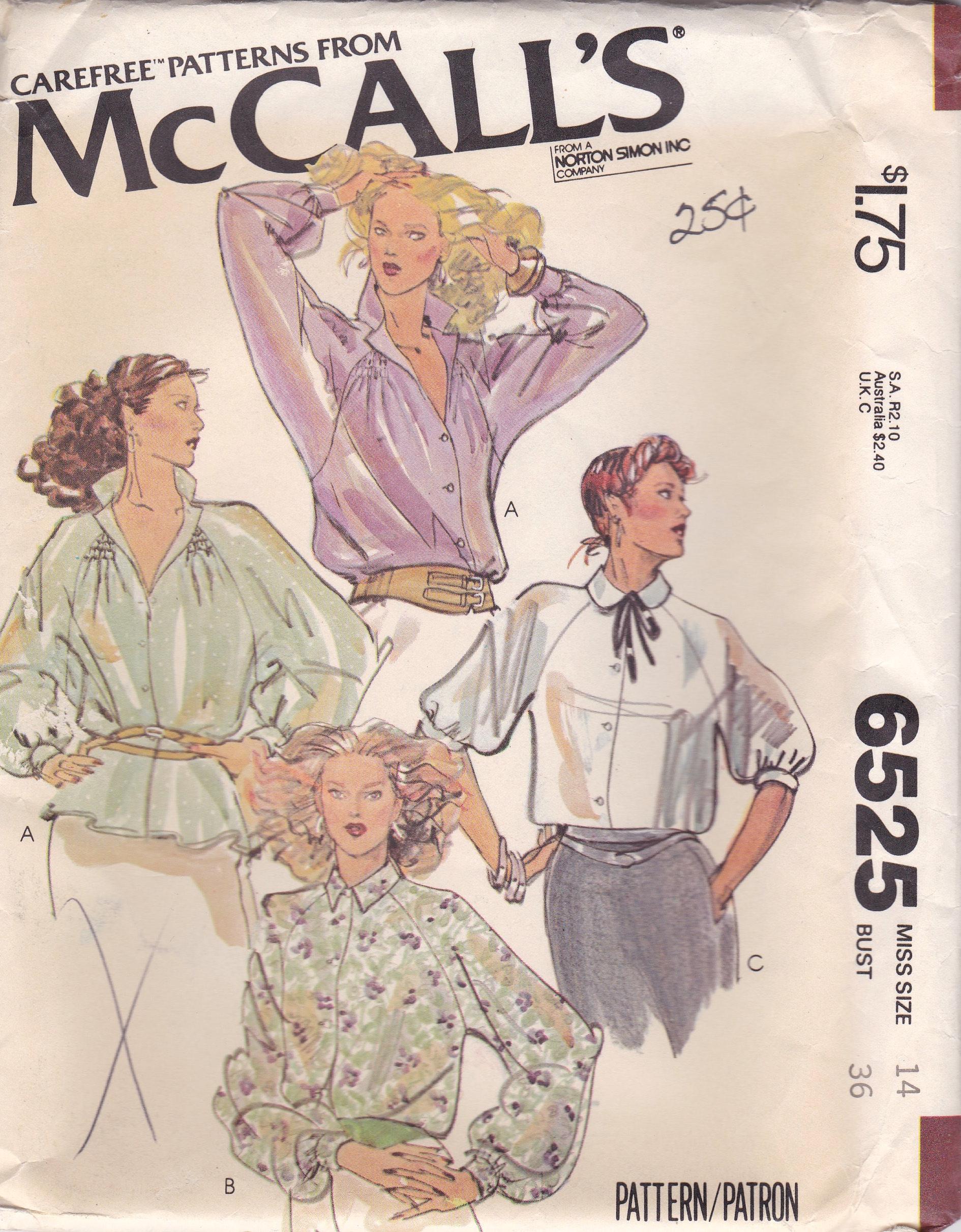 McCall's 6525 A
