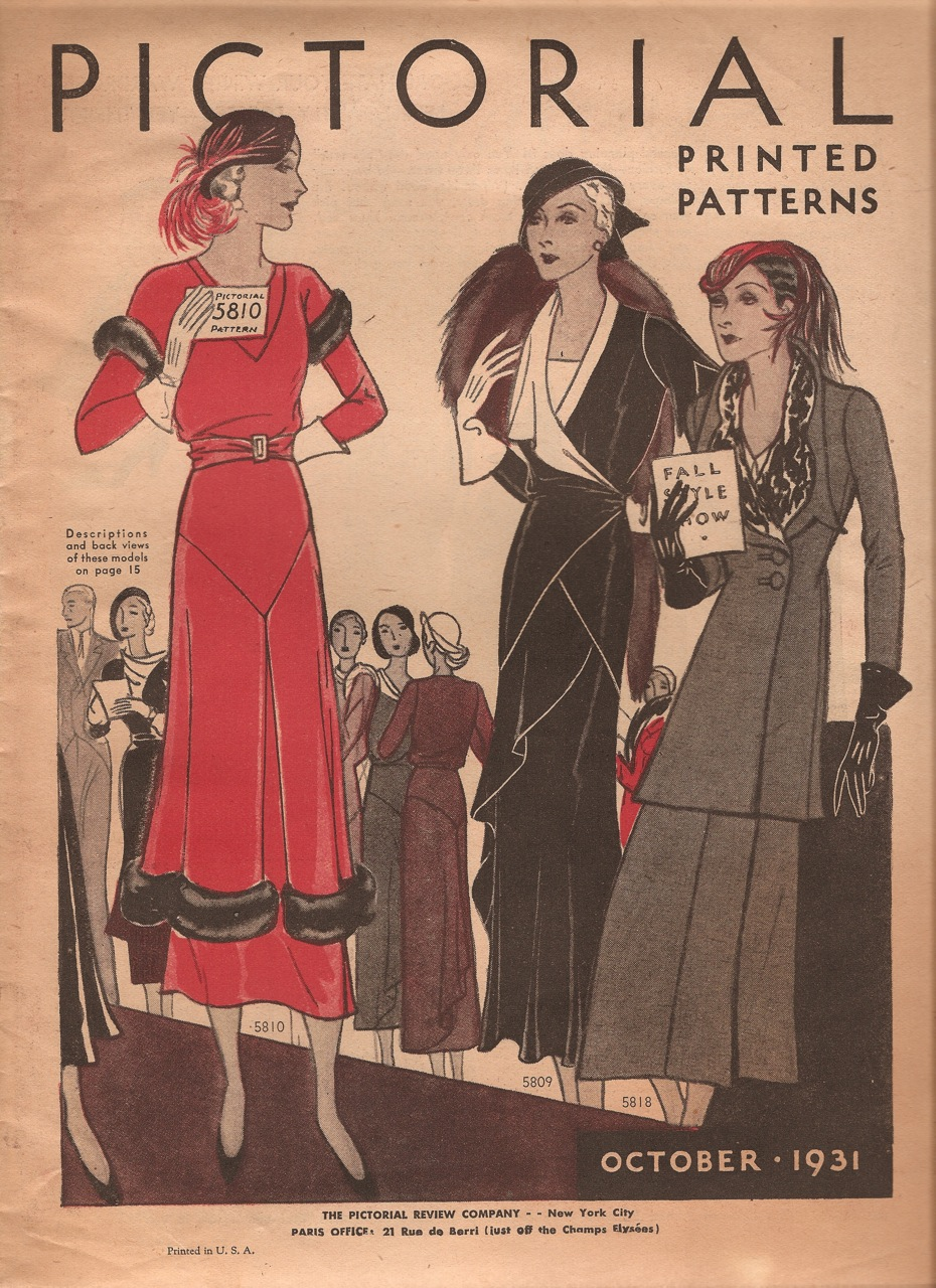 Pictorial Printed Patterns October 1931