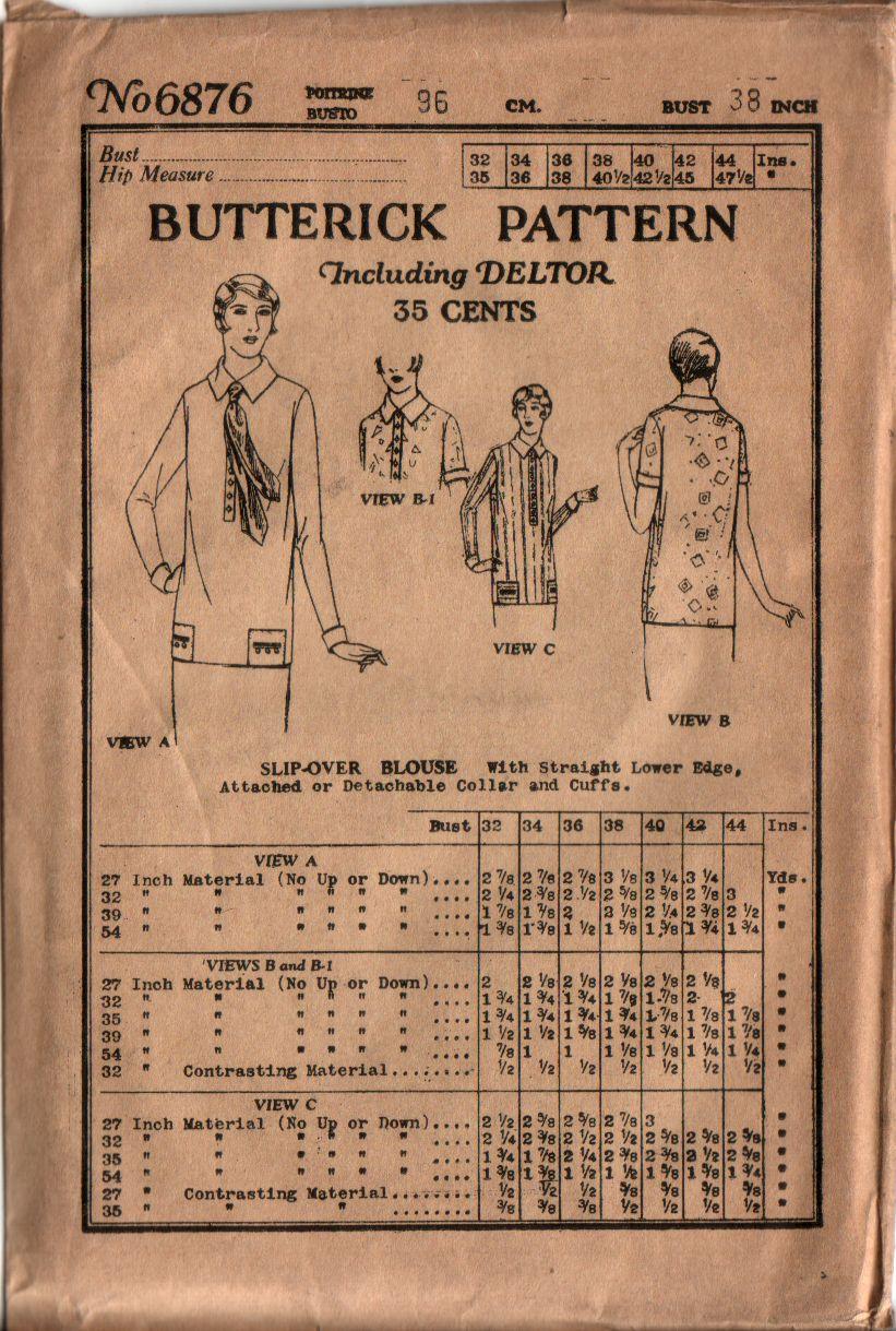 Butterick 6876 A