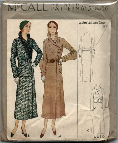 Misses Coat Pattern Circa 1920s
