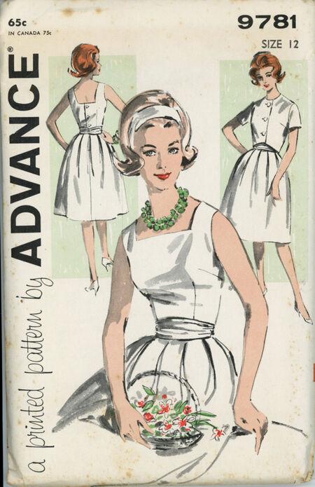 Advance 9781 Misses' Dress and Jacket