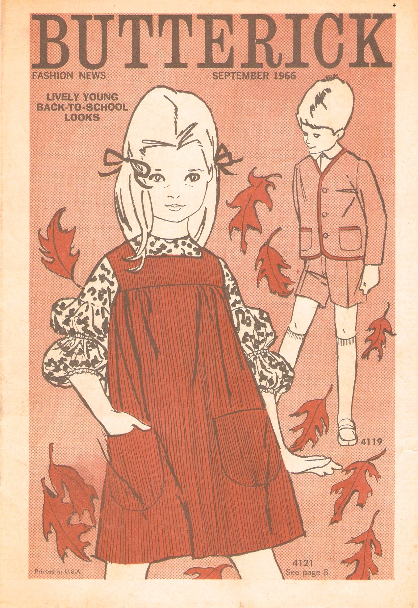 Butterick Fashion News September 1966