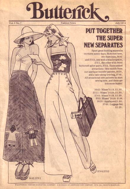 Butterick Fashion News July 1974