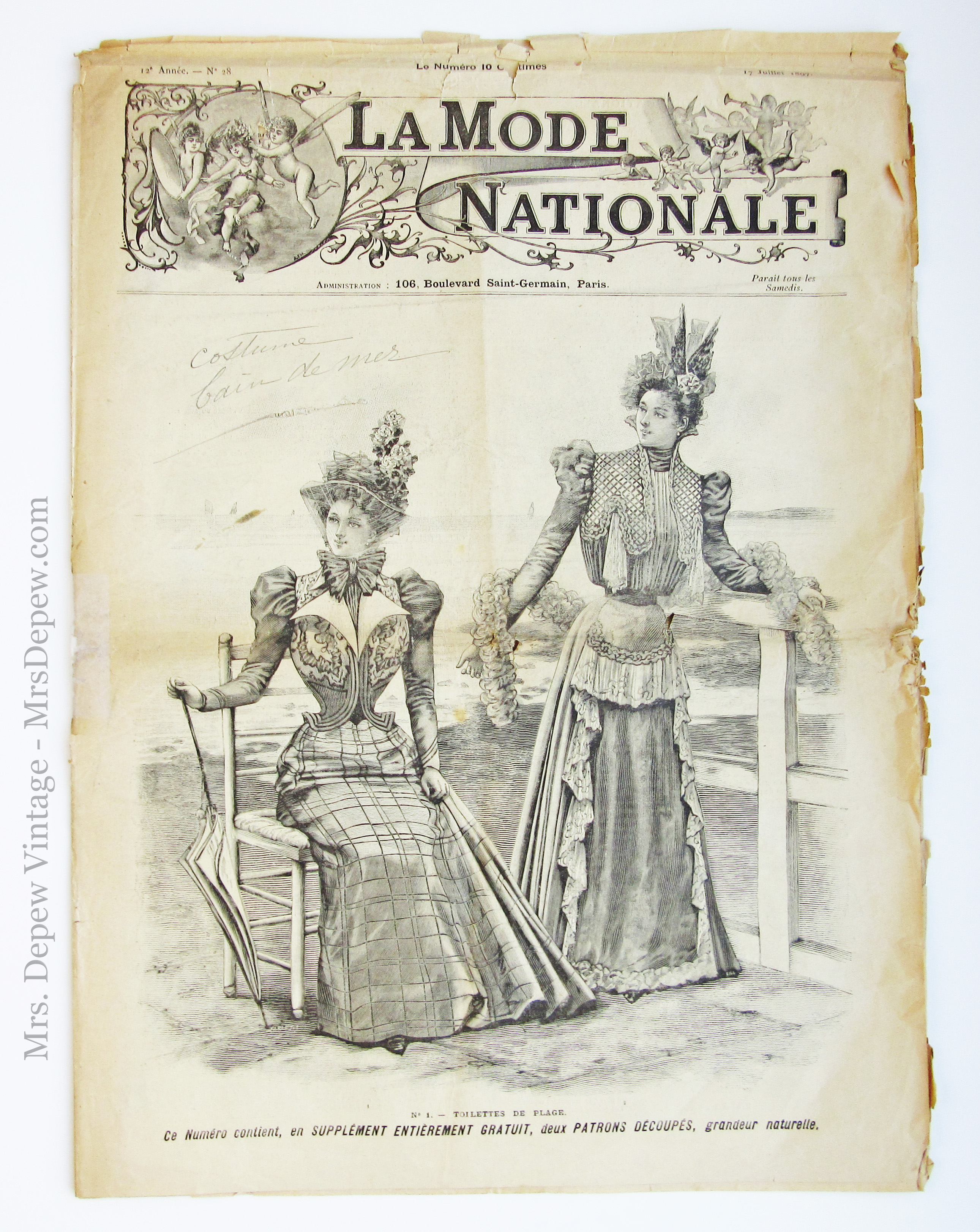 La Mode Nationale 17 Juillet 1897