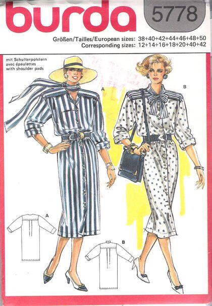 @1980s Misses' Dress