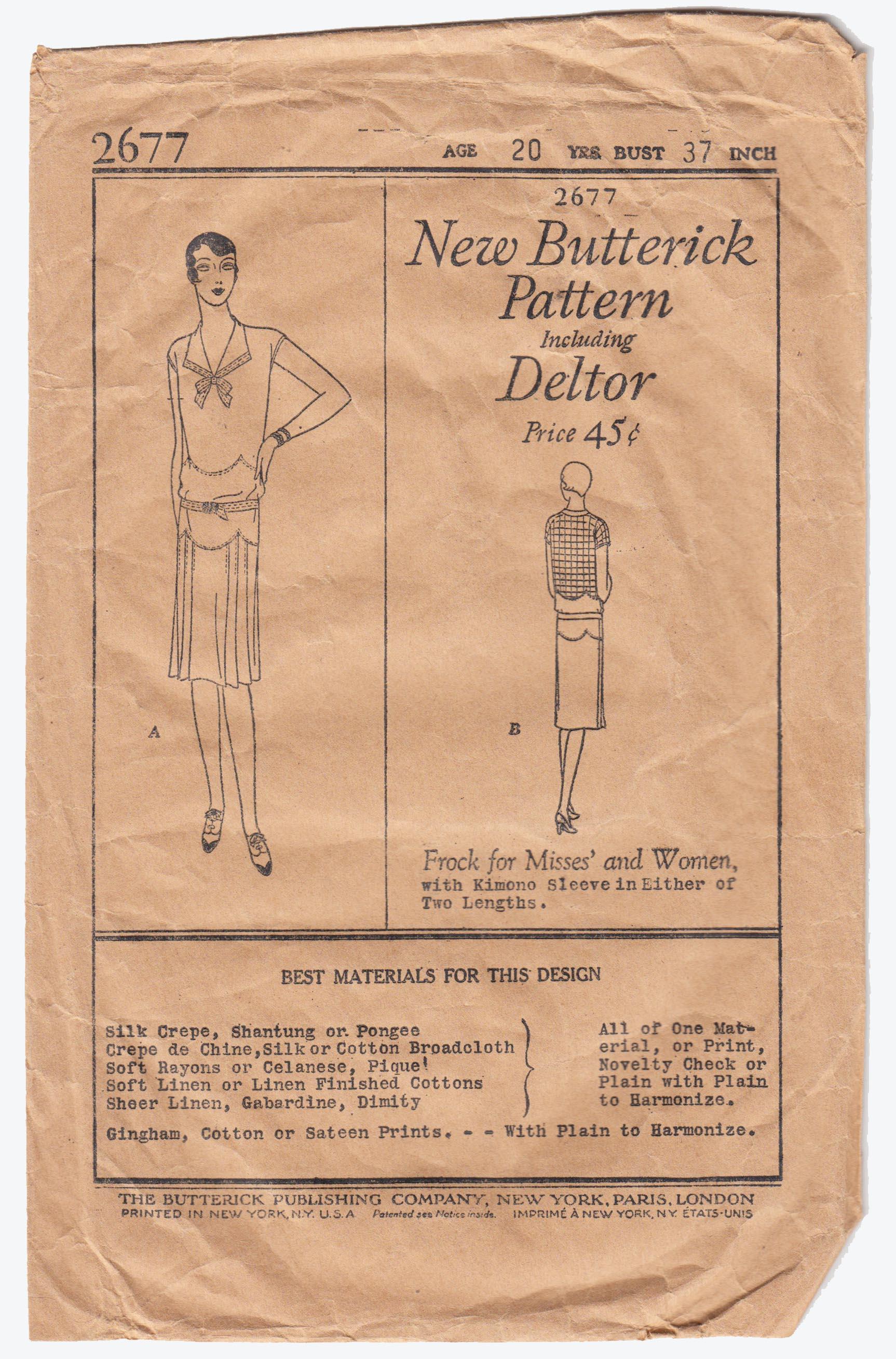 Butterick 2677 A