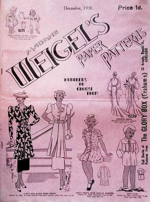 Madame Weigel's Paper Patterns December 1936