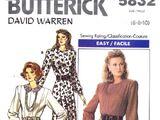 Butterick 5832 A