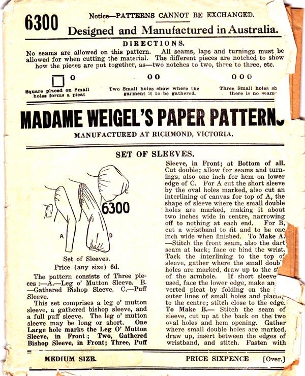 Madame Weigel's 6300