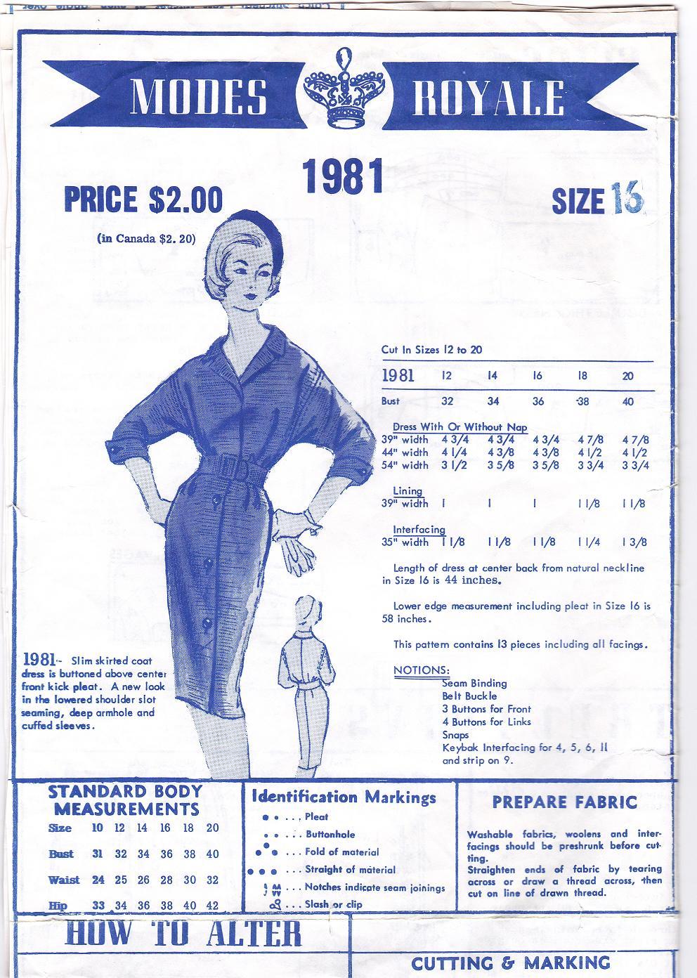 Modes Royale 1981