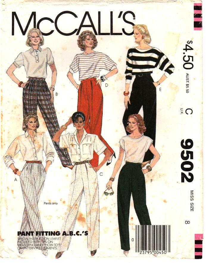 McCall's 9502 A