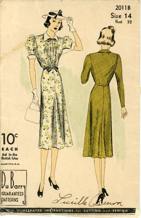 """DuBarry 2011B Misses' """"Easily Made"""" Dress"""