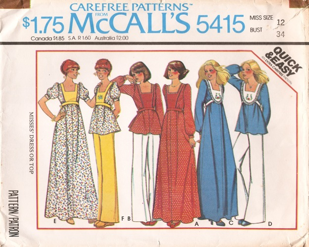 McCall's 5415 A