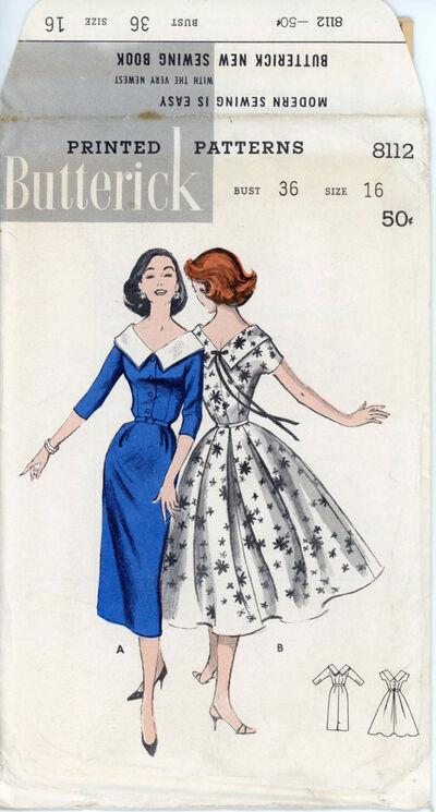 Butterick 8112 Cape Collared Dress
