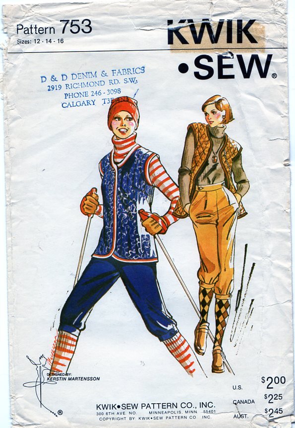 Kwik Sew 753