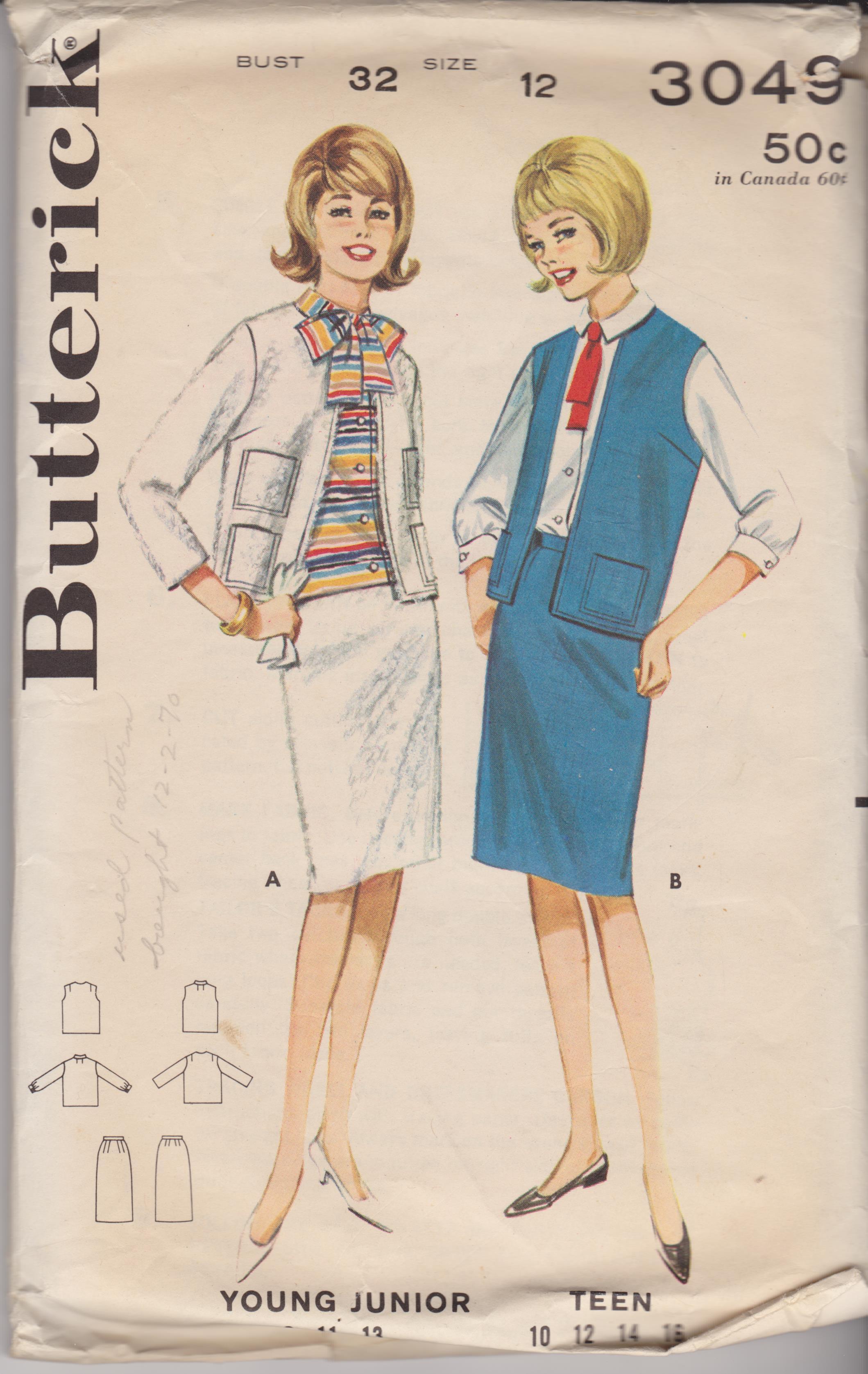 Butterick 3049 A