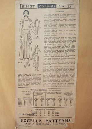 Excella E3137 Early 1930s frock