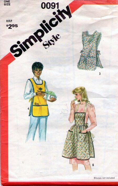 1980s Full Apron