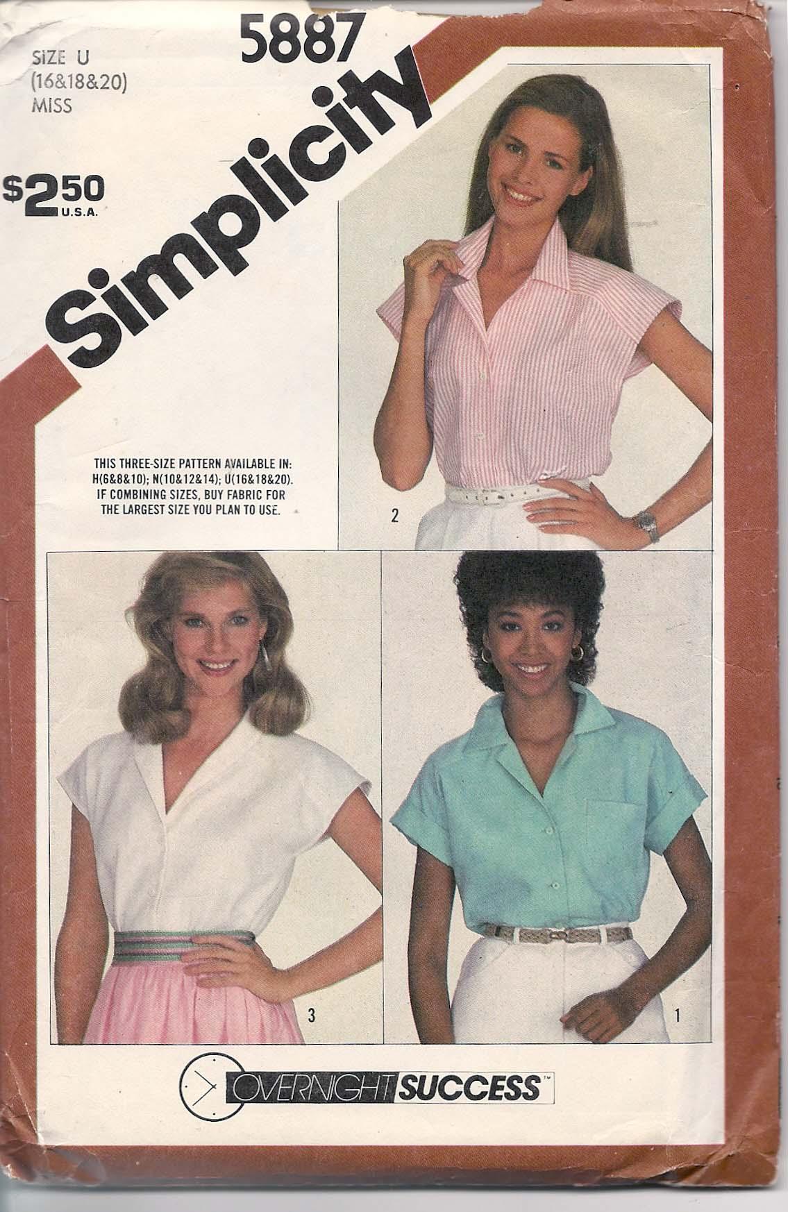 Simplicity 5887 A