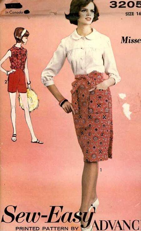Circa 1960's Advance 3205 sewing pattern