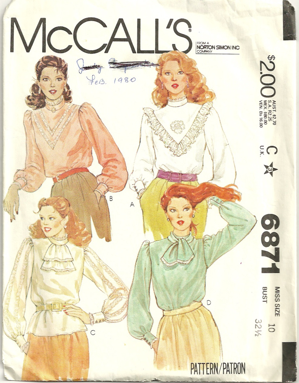 McCall's 6871 A