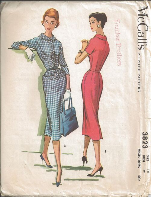 ©1956. Misses' Dress. (No other description given on pattern envelope or sewing instructions)