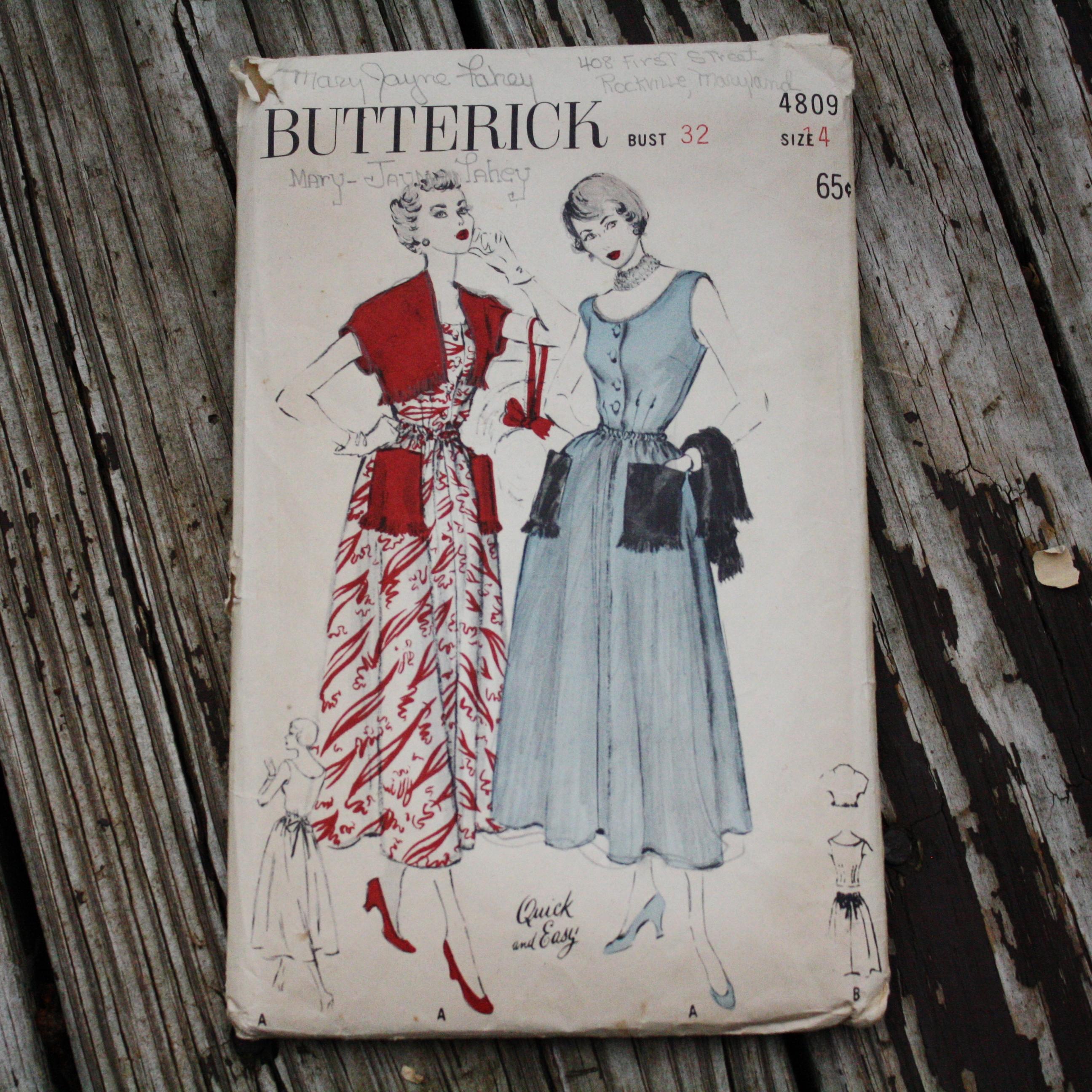 Butterick 4809 B