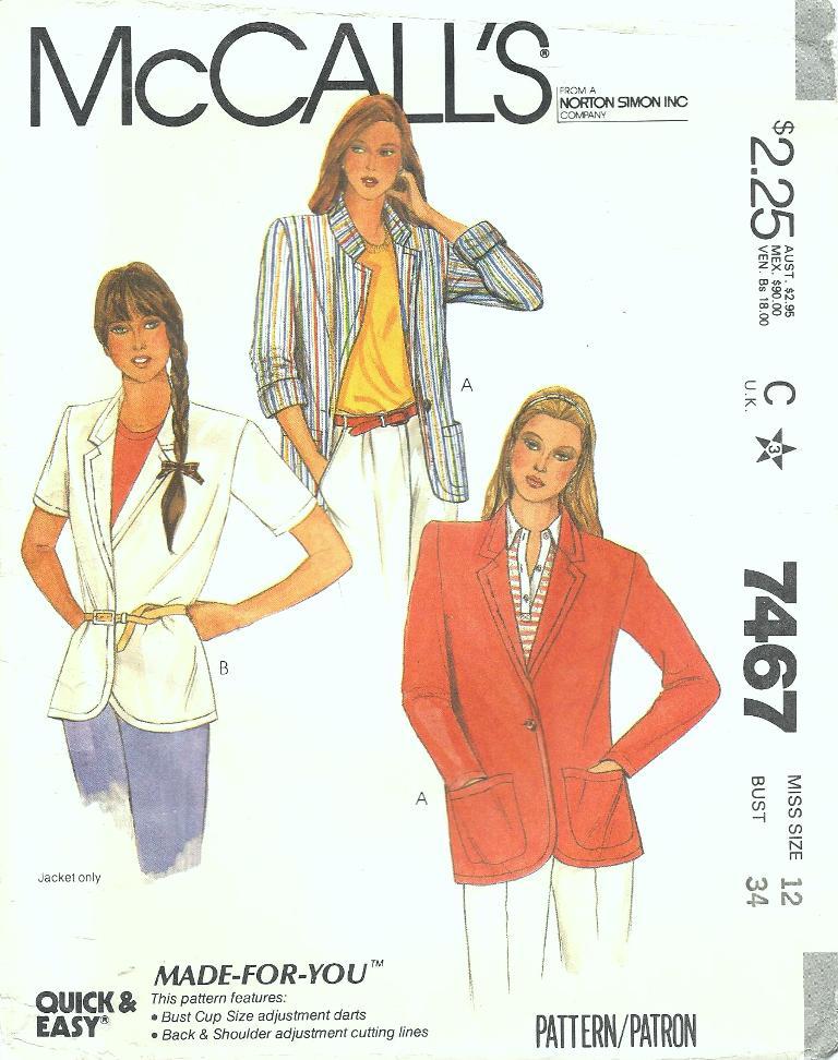 McCall's 7467 A